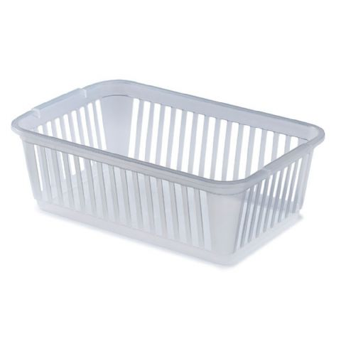 Plastic Bathroom Bath Side Storage Basket Clear Extra Large